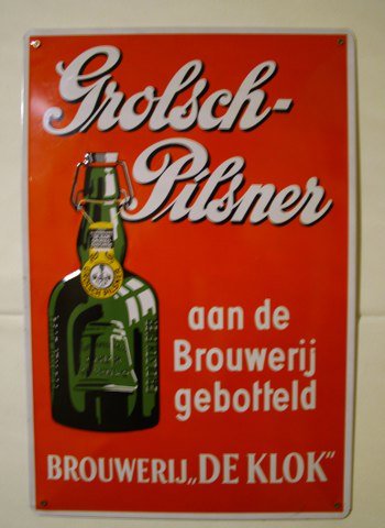 metalen bier reclameborden